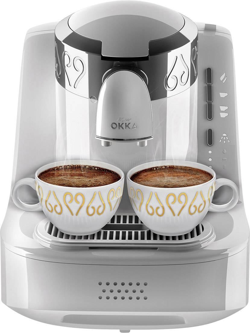 arzum Okka kavni avtomat za turško kavo bela, srebrna