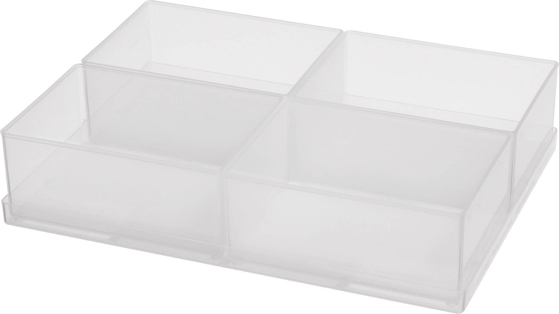 raaco  sortirni kovček-vložek (D x Š x V) 220 x 160 x 47 mm Število predalov: 4   1 kos