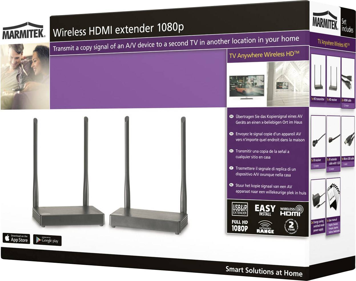 Marmitek TV Anywhere Wireless HD HDMI naprava za brezžični prenos (komplet) 200 m  1920 x 1080 piksel