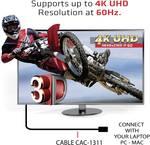 club3D HDMI priključni kabel 1.00 m CAC-1311 zaščita iz folije, High speed-HDMI, UL-certificirano, Ultra HD (4k) HDMI, primeren za obojestranski priključek črna, srebrna [1x moški konektor HDMI - 1x moški konektor HDMI]
