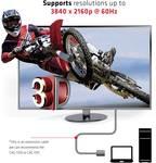 club3D HDMI podaljšek 3.00 m CAC-1321 Ultra HD (4k) HDMI črna [1x moški konektor HDMI - 1x ženski konektor HDMI]