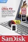SanDisk USB ključ Cruzer Ultra Fit ™ 64 GB USB 3.1 Črna