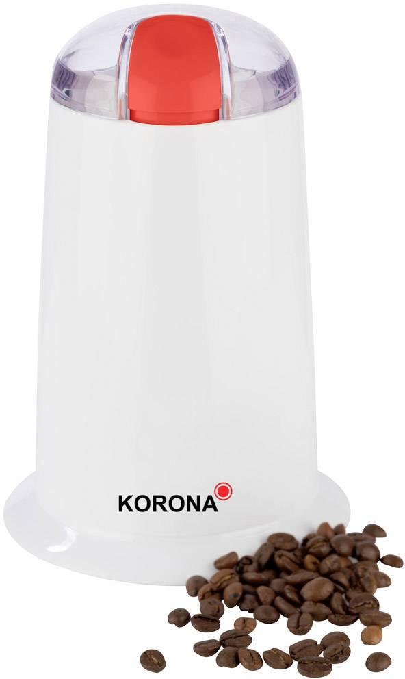 Korona 26010 26010 mlinček za kavo bela, rdeča nerjaveče stepalno rezilo