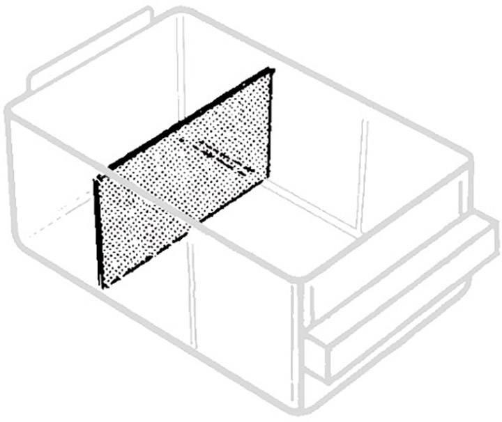 raaco 150-02 razdelilna stena za predalnik (Š x V) 87 mm x 49 mm    24 kos