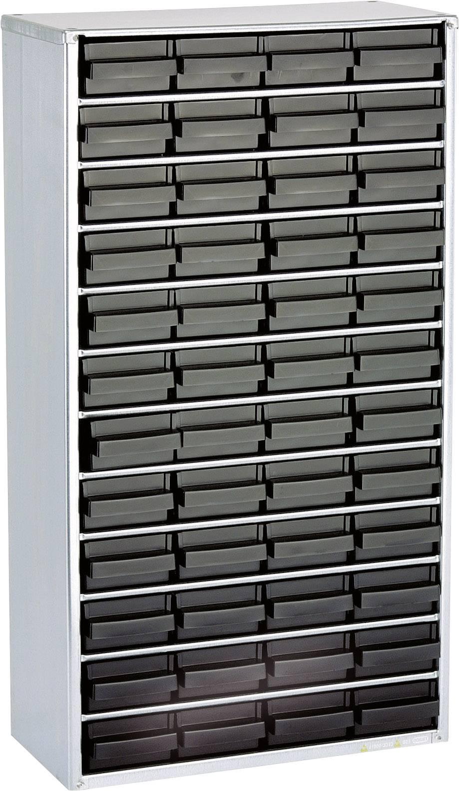 raaco 1248-01 esd-jekleni magazin (D x Š x V) 306 x 150 x 552 mm Število predalov: 48 vklj. ozemljitveni kabel  1 kos