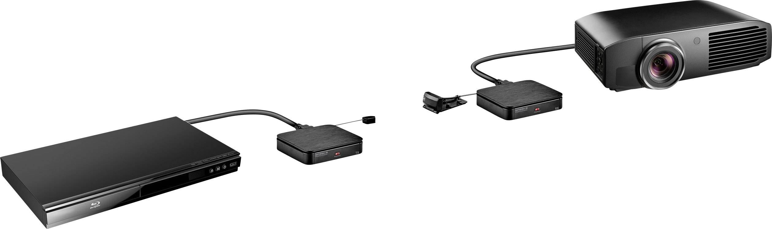 SpeaKa Professional SP-HDFS-04 HDMI naprava za brezžični prenos (komplet) 30 m 2.4 GHz 1920 x 1080 piksel