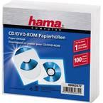 Hama  cd ovitek 1 cd/DVD/Blu-ray papir bela 100 kos (Š x V x G) 125 x 125 x 1 mm 00062672