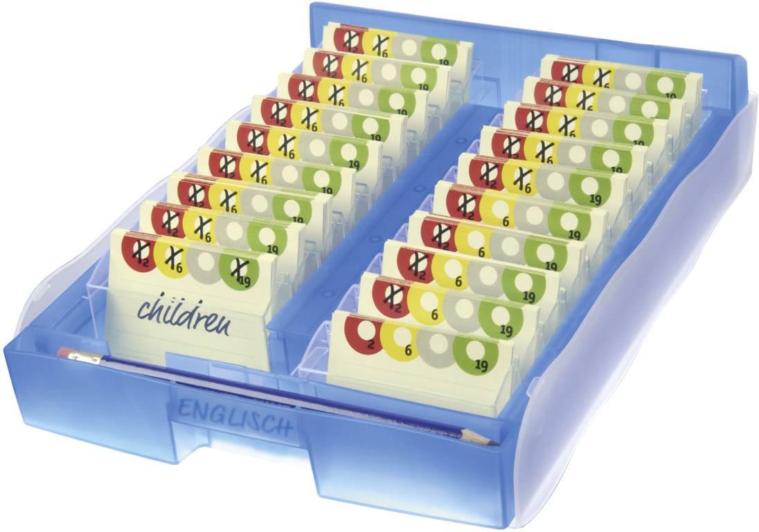 HAN CROCO 9988-643 kartice za učenje modra prosojna Maks. število kartic: 2000 kartic din a8 prečno