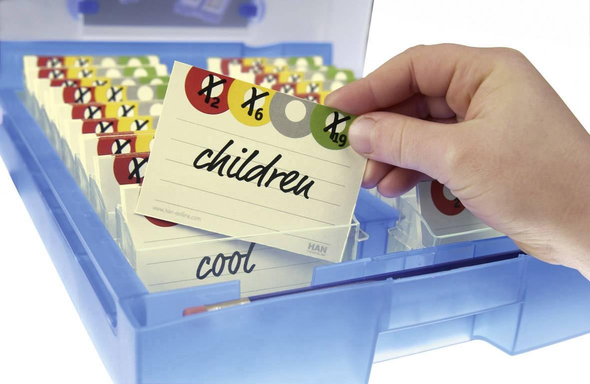 HAN CROCO 2-6-19 9988-613 kartice za učenje oranžna (transparentna) Maks. število kartic: 2000 kartic din a8 prečno