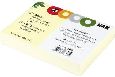 HAN kartica 9813 din a7 prečno rumena 100 kos