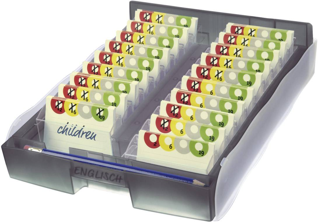 HAN CROCO 9988-693 kartice za učenje siva prosojna Maks. število kartic: 2000 kartic din a8 prečno