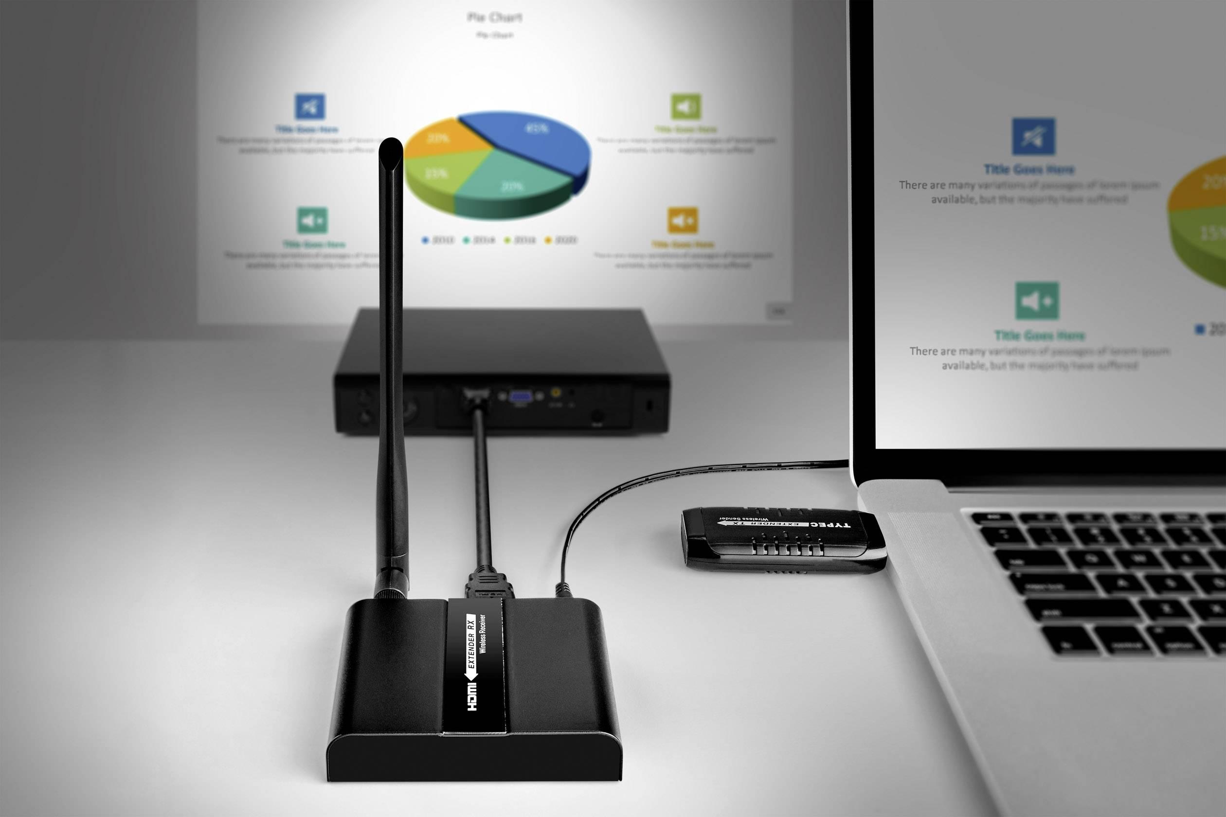 SpeaKa Professional SP-UCFS-01 USB-C™ naprava za brezžični <br>prenos (komplet) 30 m 5.8 GHz 1920 x 1080 piksel