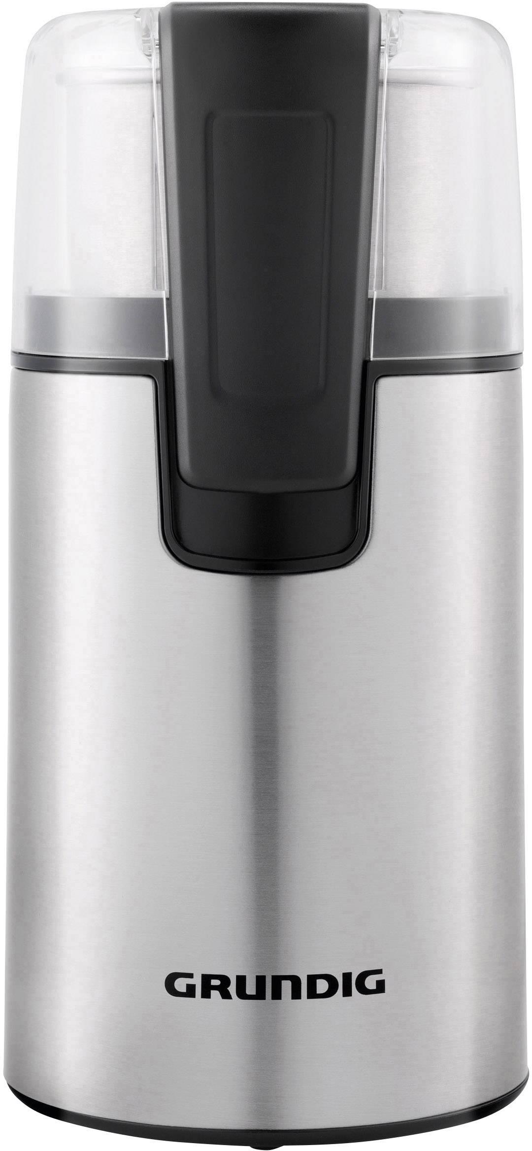 Grundig CM 4760 GMS2070 mlinček za kavo legirano jeklo, črna nerjaveče stepalno rezilo