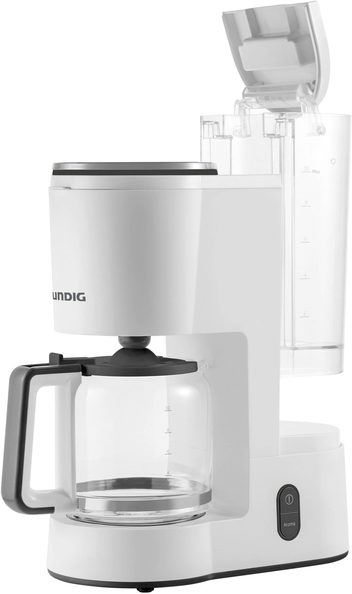 Grundig KM 5860 kavni aparat bela, črna  Kapaciteta skodelice=10 stekleni vrč, toplotna funkcija