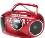 Dual P 70 cd radio UKW aux, cd, kaseta rdeča