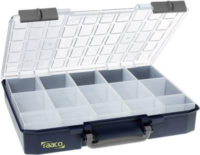 raaco CarryLite 80 5x10-15 sortirni kovček (Š x V x G) 413 x 79 x 330 mm Število predalov: 15   1 kos