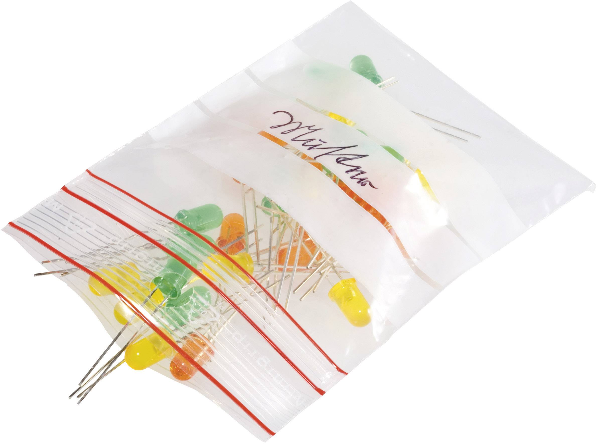 ziplock vrečka s trakovi za označevanje (Š x V) 120 mm x 170 mm transparentna polietilen