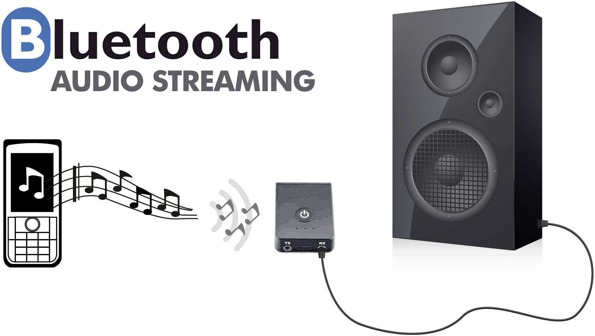 Caliber Audio Technology PMR206BT Bluetooth® glasbeni oddajnik/sprejemnik Bluetooth: 2.1 2 m vgrajena akumulatorska bate
