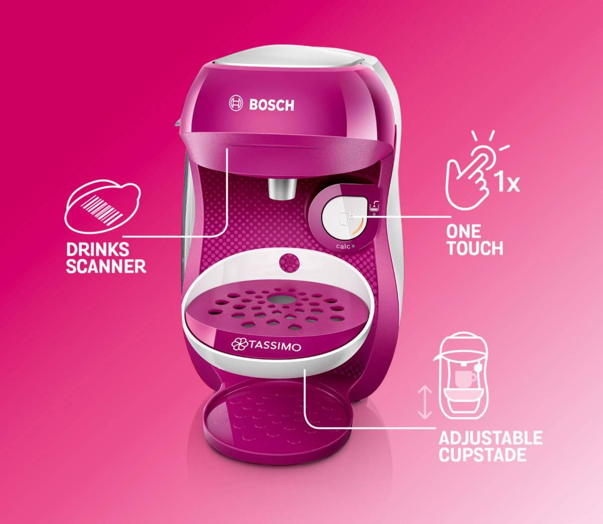 Bosch Haushalt Happy TAS1001 kavni avtomat na kapsule roza