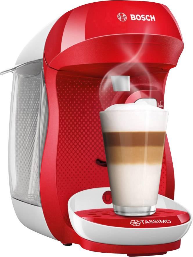 Bosch Haushalt Happy TAS1006 kavni avtomat na kapsule rdeča, bela