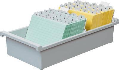 HAN Škatla za kartice DIN A6 horizontalen/956-0-11 svetlo siva, plastika 148x105x76 mm