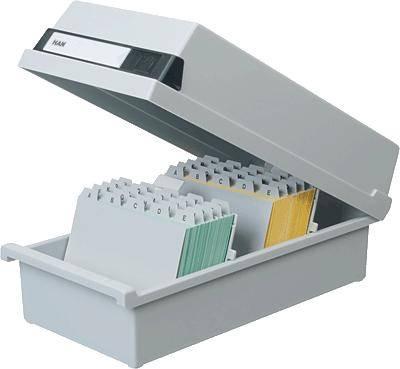 HAN Škatla 1.300 indeksnih kartice/954-11 A4 horizontalen svetlo siva, plastika