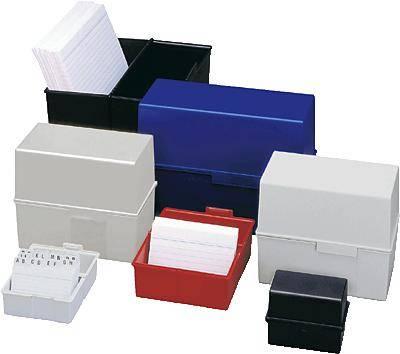 HAN Škatla za kartice DIN A6 horizontalen/976-14 modra, plastika