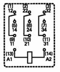TE Connectivity PT370730 miniaturni rele 230 V/AC 10 A 3 menjalo 1 kos