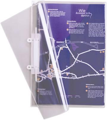 Mapa s sponko, prozorna  Durable