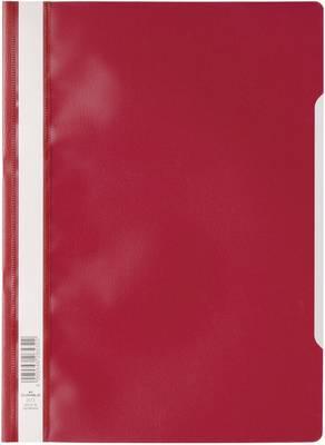 Mapa s sponko in s prozorno platnico, DIN A4, iz polipropilena, rdeča 2573-02 Durable
