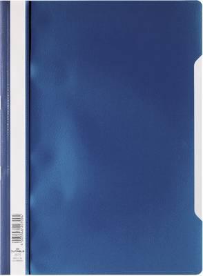 Mapa s sponko in s prozorno platnico, DIN A4, iz polipropilena, modra 2573-07 Durable