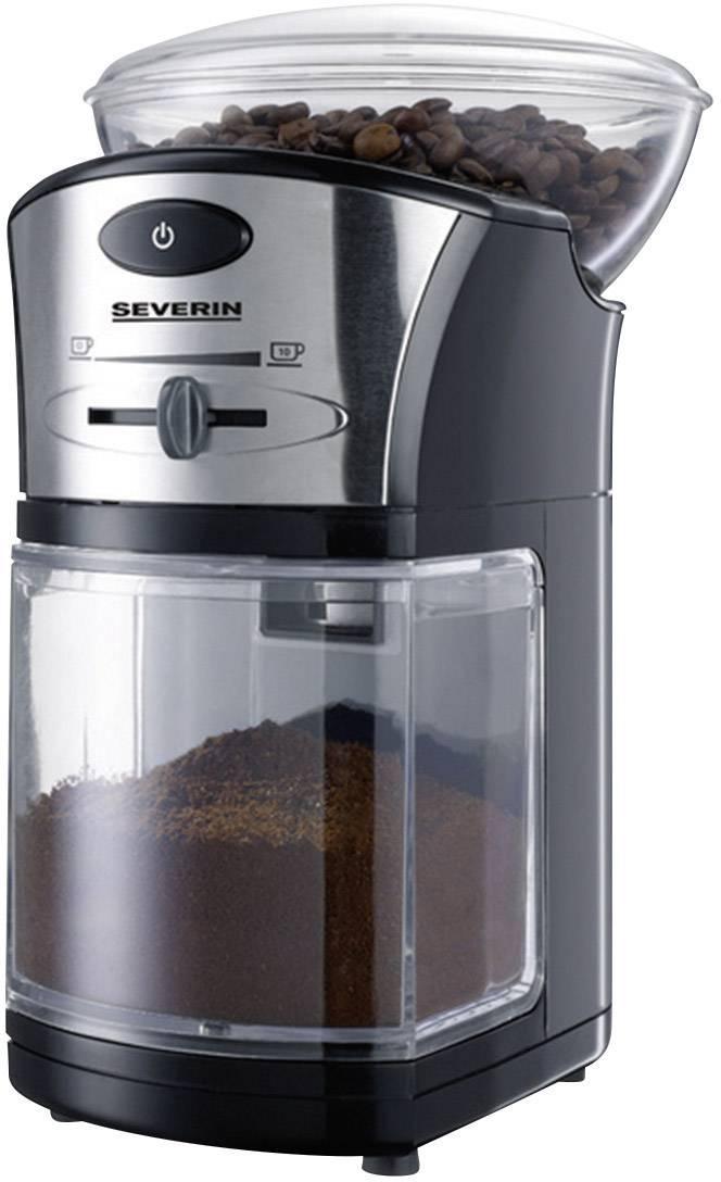 Kavni mlinček z mlevnim mehanizmom Severin KM 3874, črno-srebrne barve