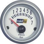 raid hp 660219 inštrument za avtomobil za vgradnjo prikaz oljnega tlaka Merilno območje 7 - 0 bar srebrna serija modro-b