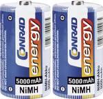 Conrad energy NiMH D-batterier 5000 mAh, 2-pack