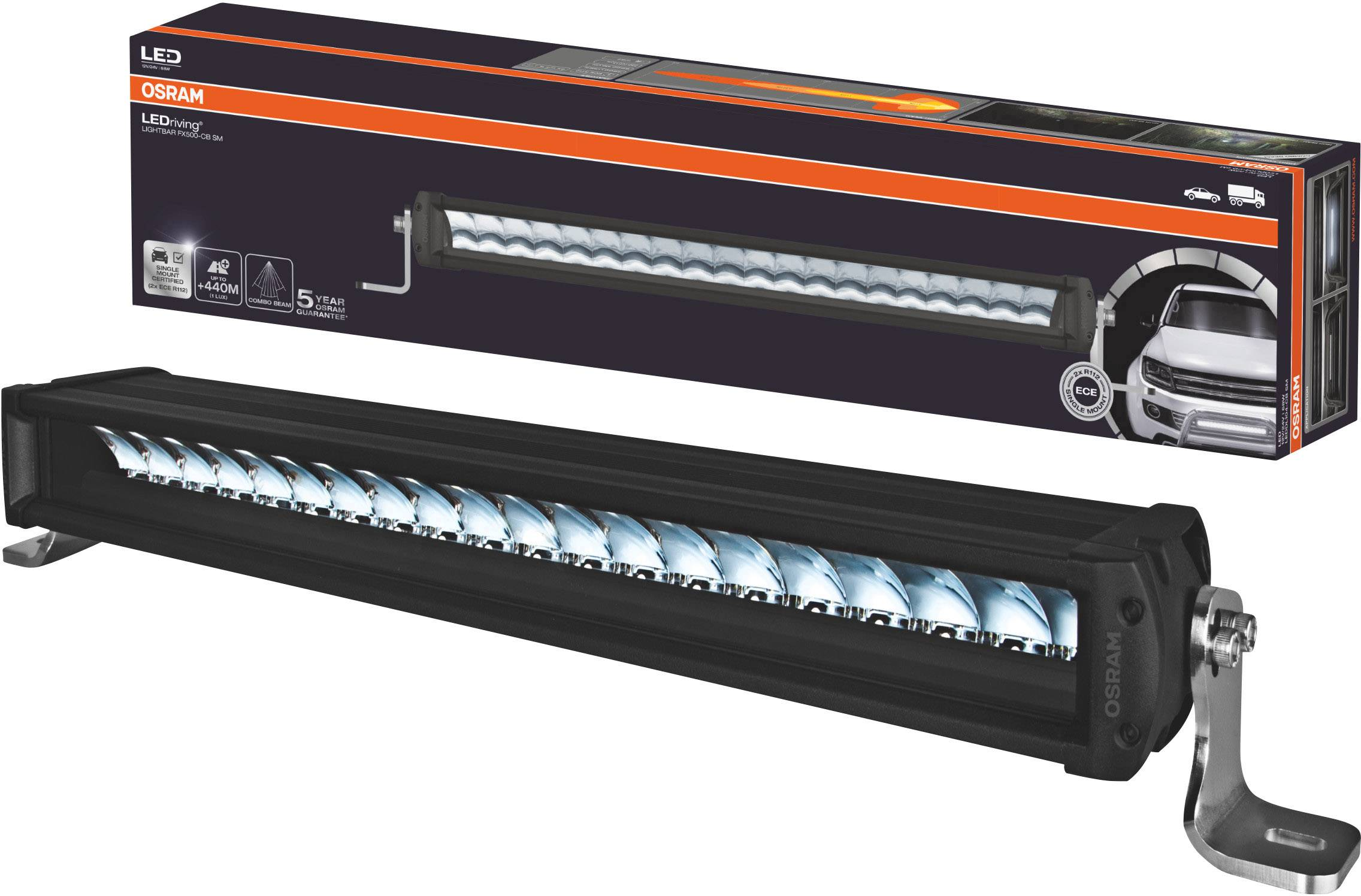 Osram Auto LEDDL104-CB SM LEDriving LIGHTBAR FX500-CB SM LED fram (B x H x D) 564 x 77 x 93.5 mm Svart | Conrad.se