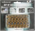Keramiska kondensatorer sortiment med 224 Skt.