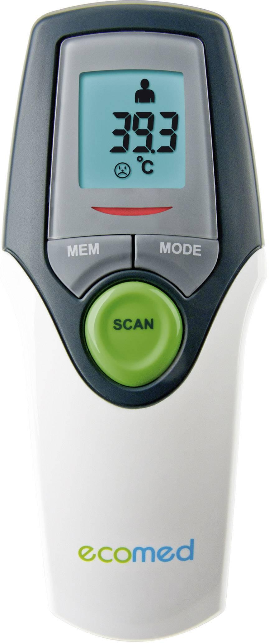 Infraröd febertermometer Medisana TM 65 E Vit, Grå