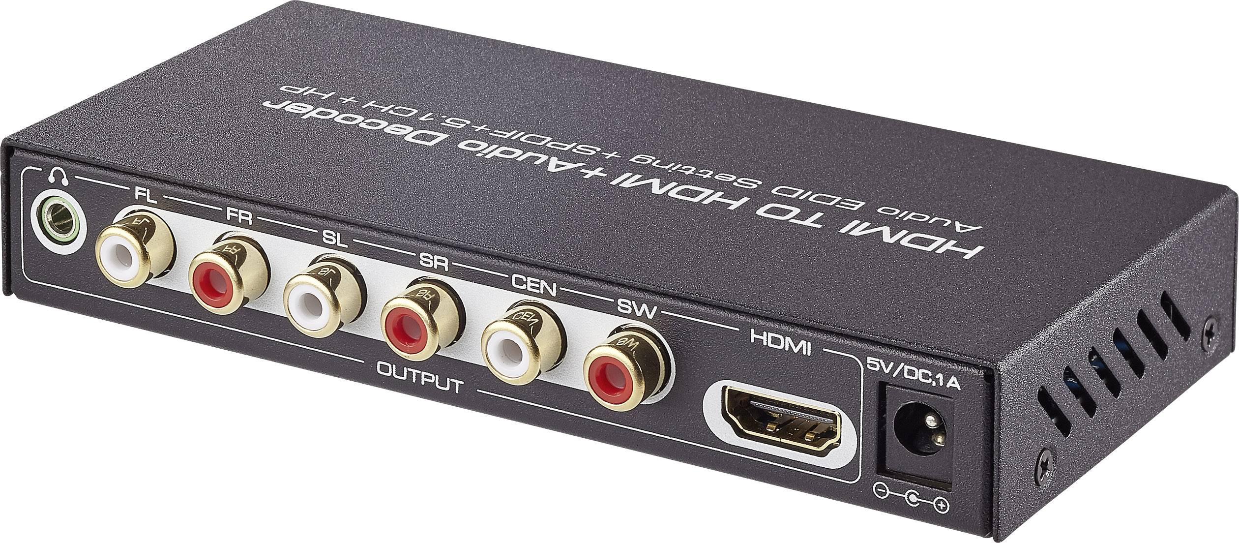 Audio Extraktor[HDMI - HDMI, Toslink, 6-kanals RCA] 1920 x