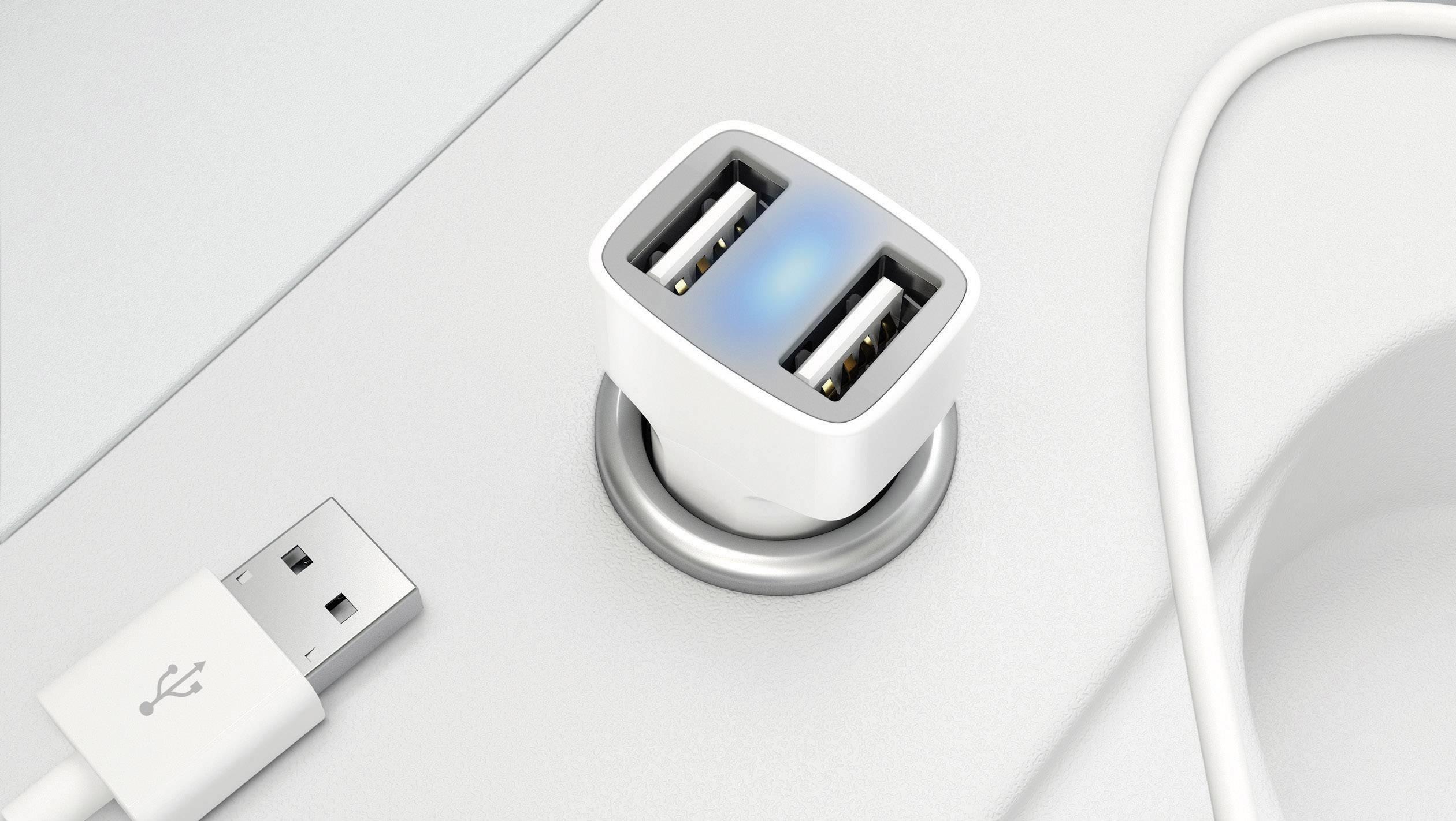 USB laddare Innergie PowerJoy Go Pro ADP 21JB AAE Personbil Utgångsström max. 2100 mA 2 x USB Auto Detect