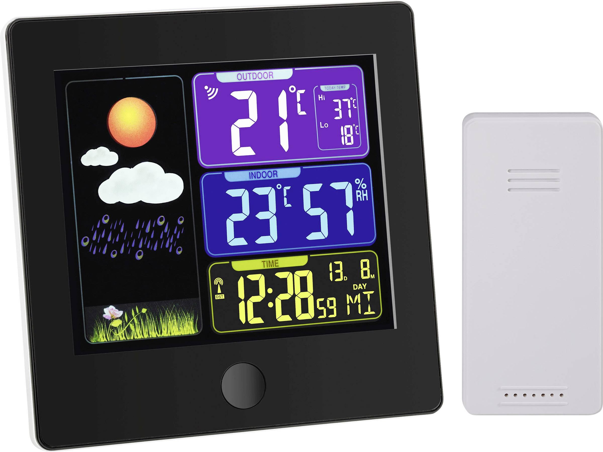 TFA Dostmann SUN 35.1133.01 Trådlös digital väderstation Prognos för 12 24 timmar