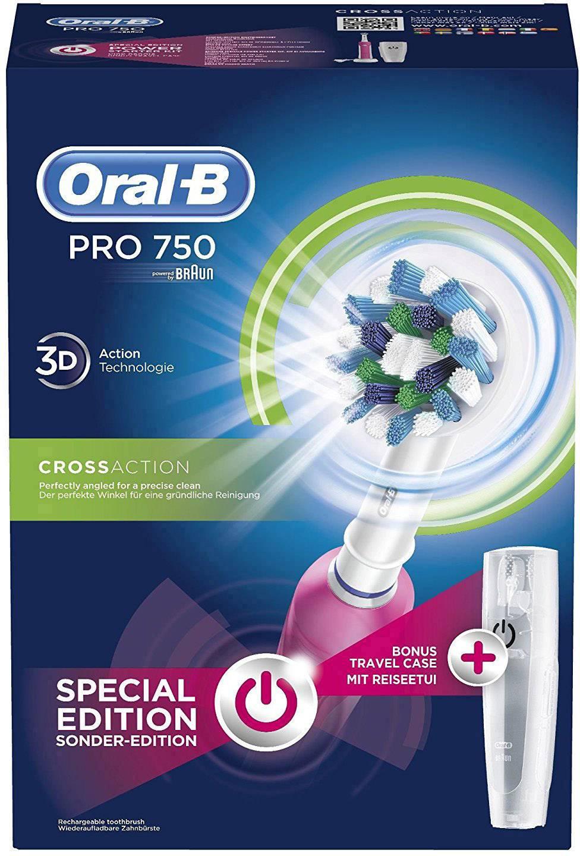 Eltandborste Oral-B Pro 750 Cross Action Rosa 887d558c26e6e