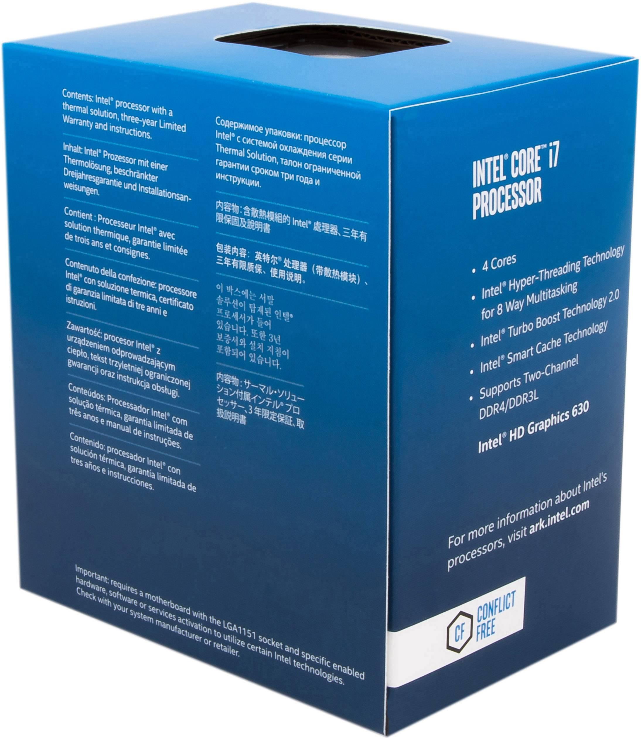 Intel Core i7-7700 Kaby Lake Quad-Core 3.6 GHz Processor LGA 1151