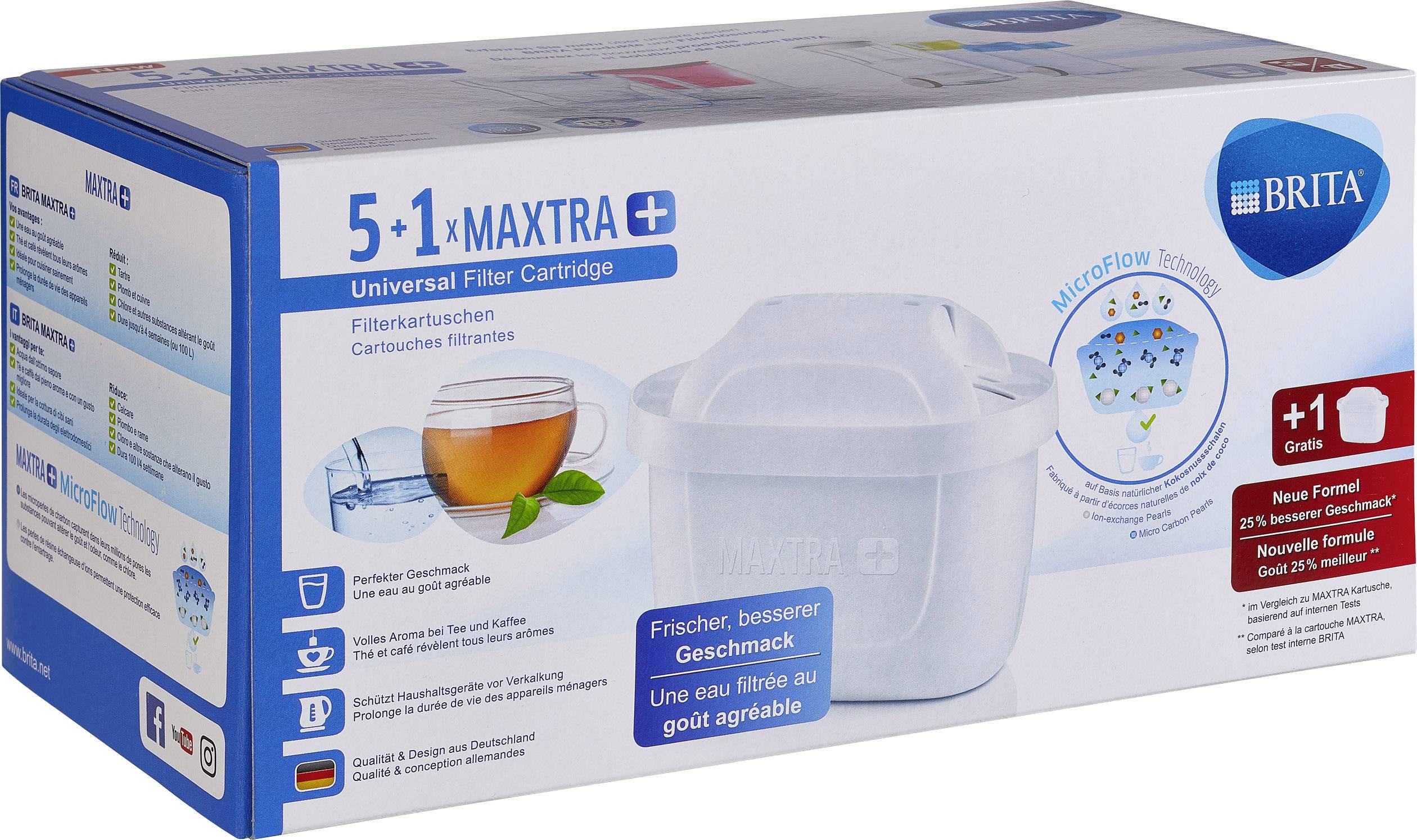 Splitter nya Filterkassett Brita Maxtra + 5+1er Pack Vit 6 st | Conrad.se DM-37