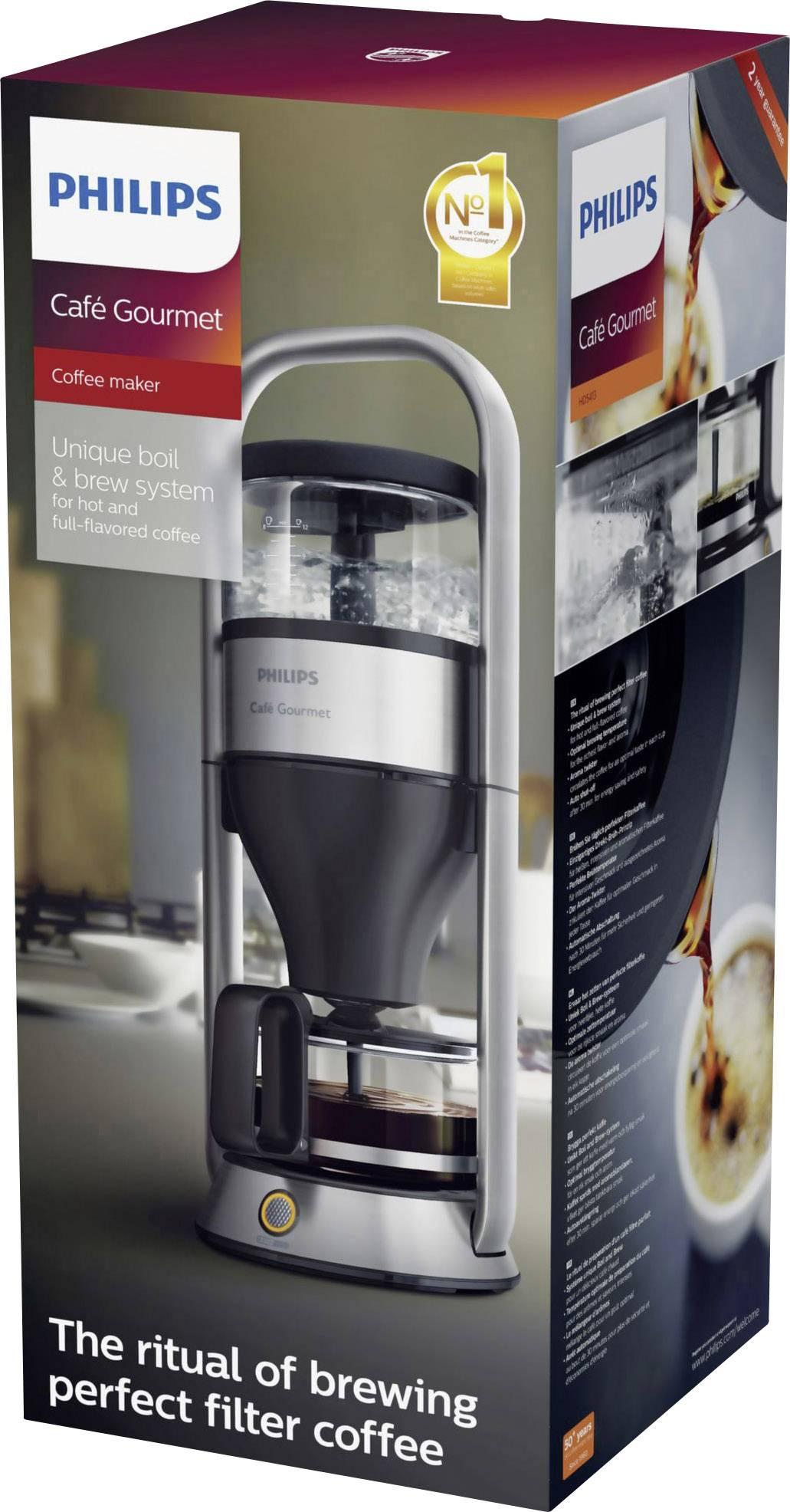 Philips Kaffebryggare Rostfritt stål Kapacitet Koppar=12