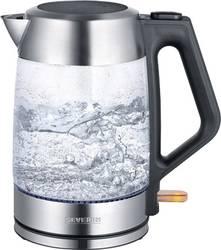 Populära Severin WK 3475 Vattenkokare sladdlös Glas, Rostfritt stål FP-08