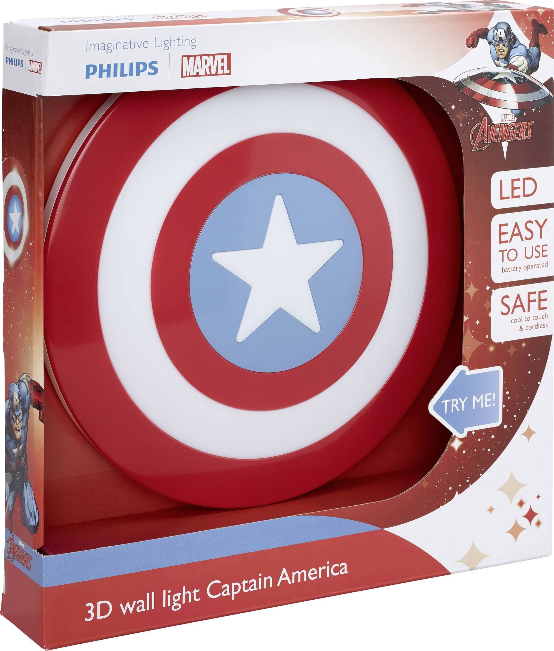 Philips Lighting 7194032P0 LED vägglampa Captain America LED LED fast installerad Flerfärgad