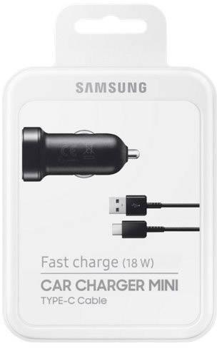 Samsung EP LN930CBEGWW Personbil Laddare för mobiltelefon med snabbladdning USB C hane Svart