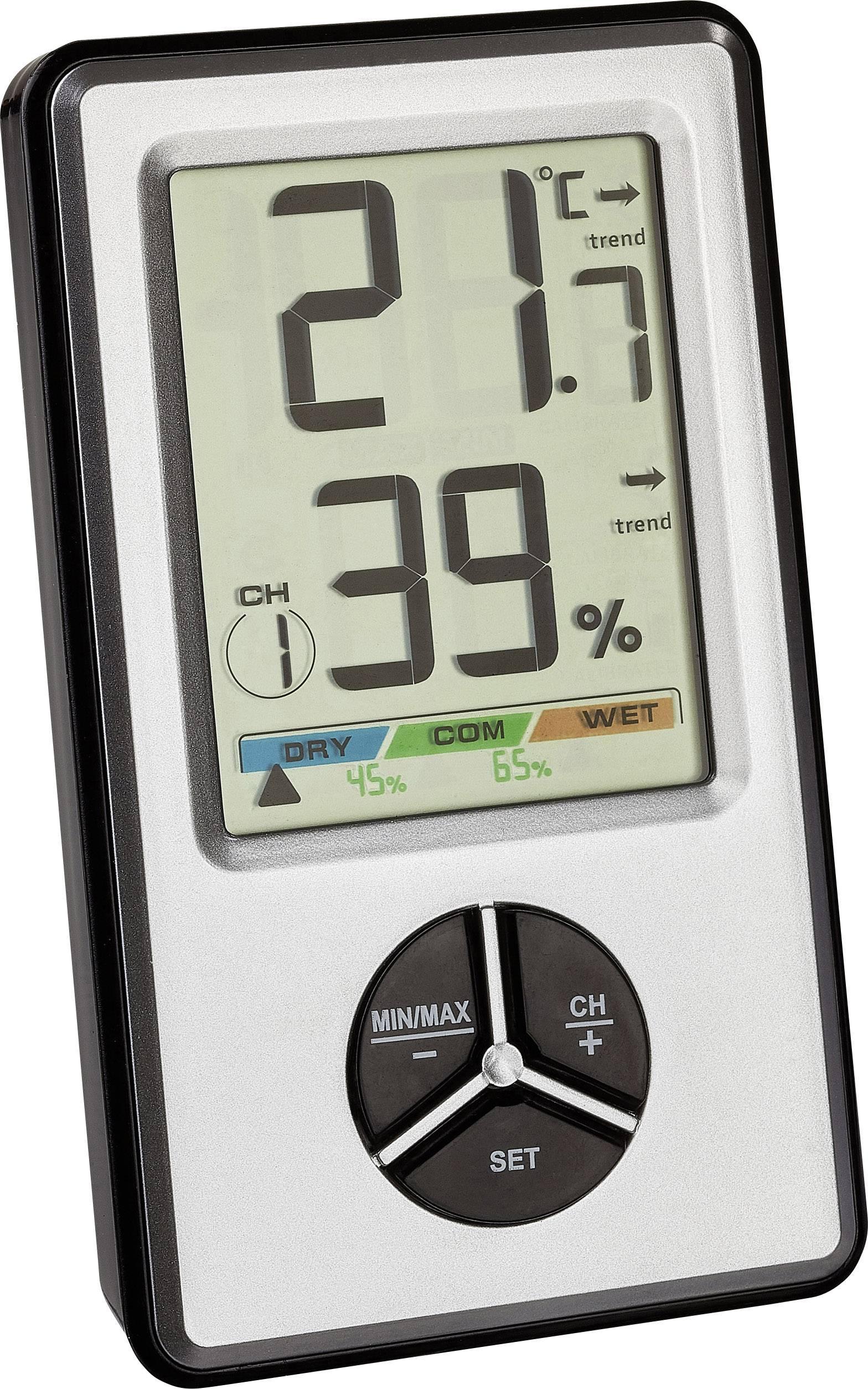 TFA Dostmann 30.5045.54 digitales Thermo Hygrometer Trådlös termo hygrometer Vit