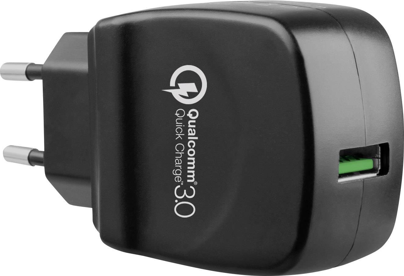 LVSUN QW20 LS QW20 A USB laddare Vägguttag Utgångsström max. 3000 mA 1 x USB 3.0 A hona Qualcomm Quick Charge 3.0