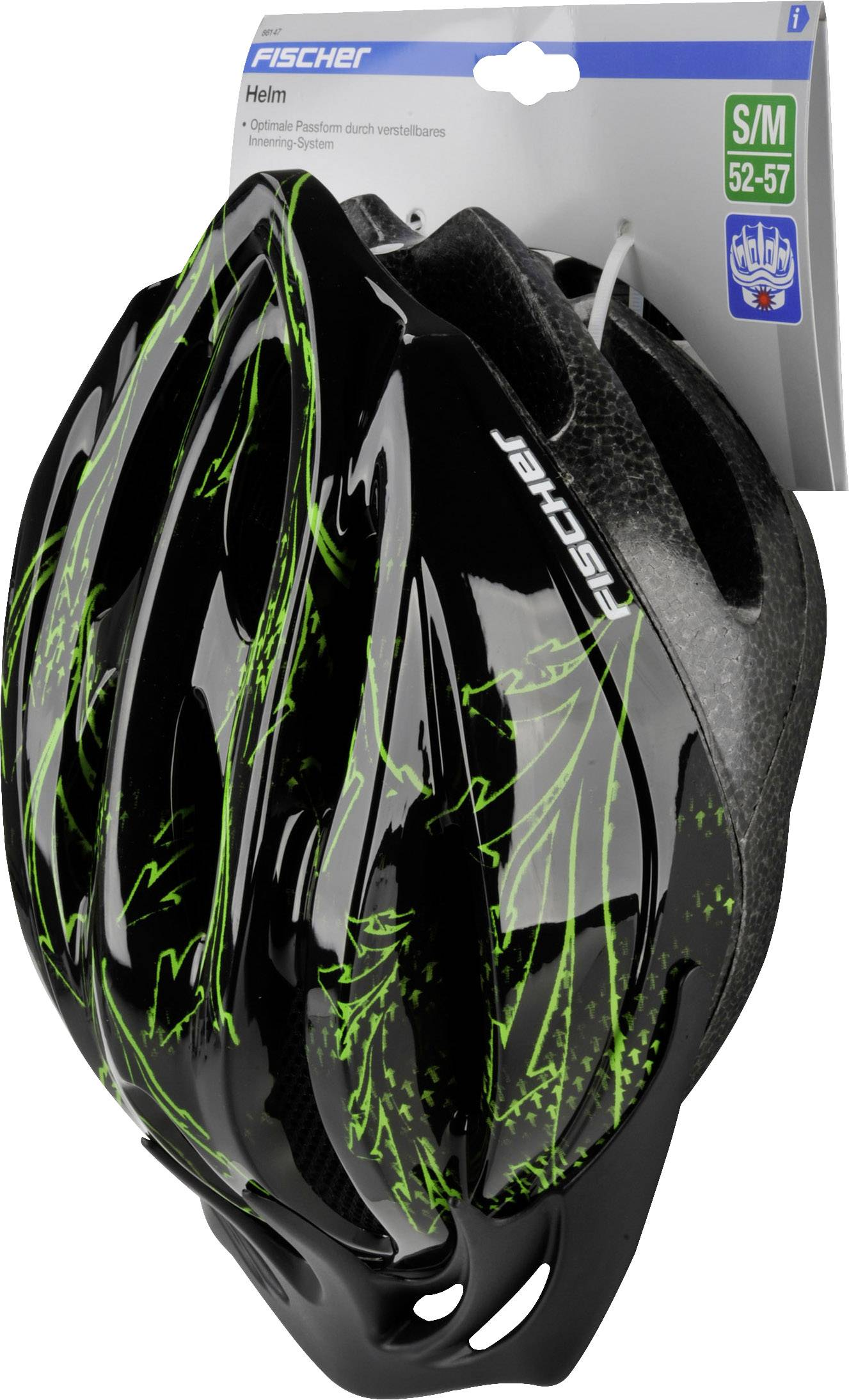 City-hjälm Fischer Fahrrad Arrow S M Svart  4f7784d0f6c6a